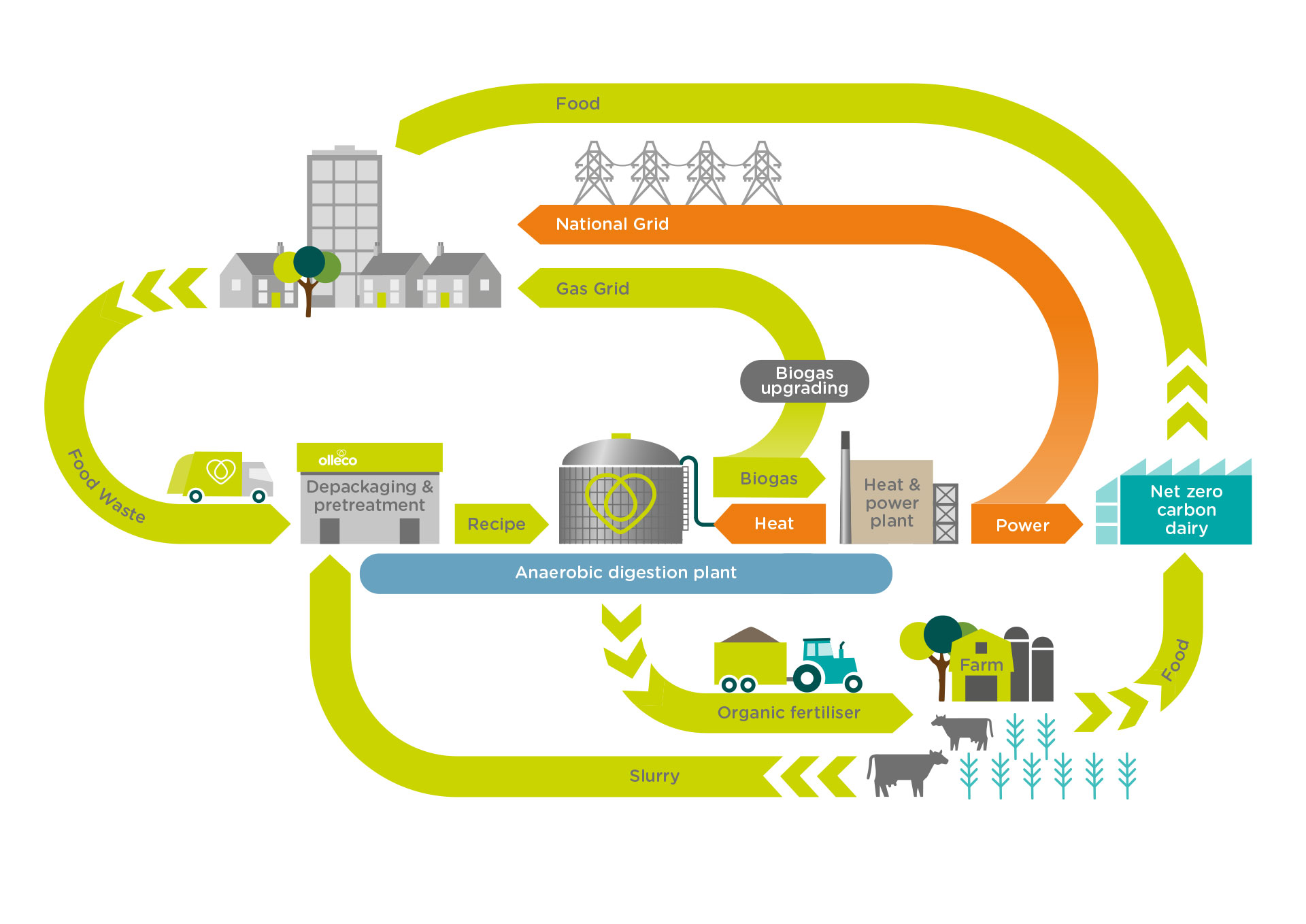 anaerobic digestion process infographic