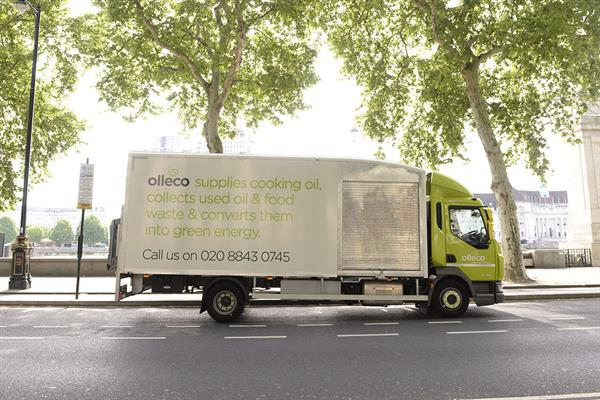 Olleco oil vehicle in London