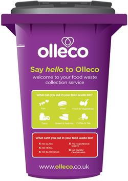 What you can and can't put in an Olleco bin